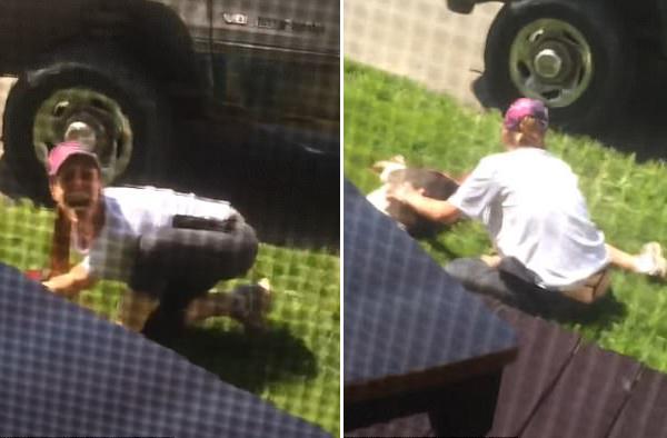 美国女子宠物狗遭邻居开枪打死号啕大哭