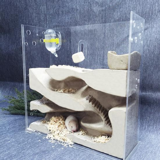 让你的宠物住个豪宅吧!用混凝土建仓鼠之家